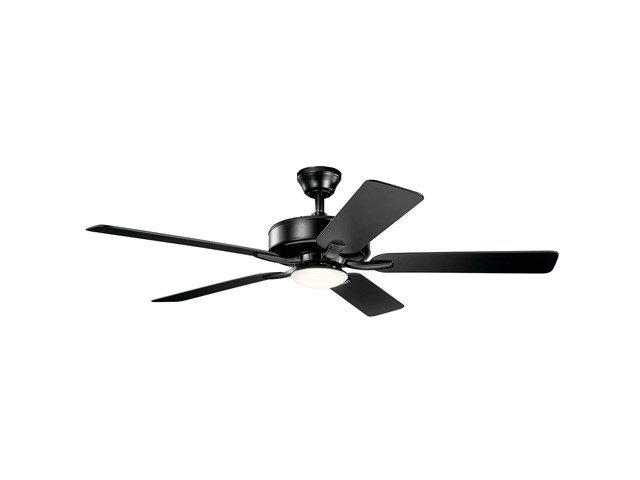 "52"" Basics Pro Designer LED Fan Satin Black"