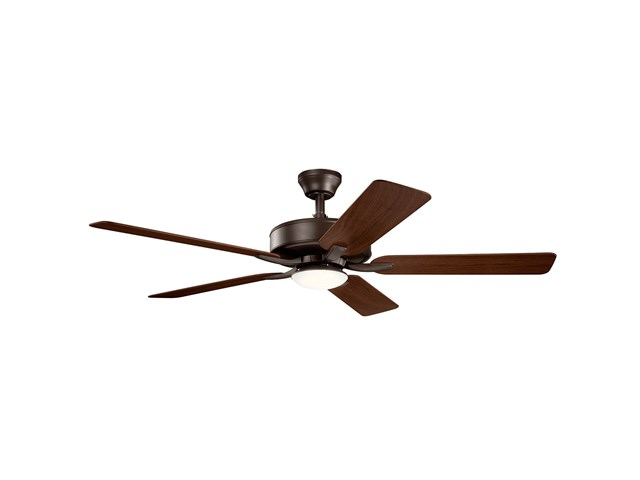 "52"" Basics Pro Designer LED Fan Satin Natural Bronze"