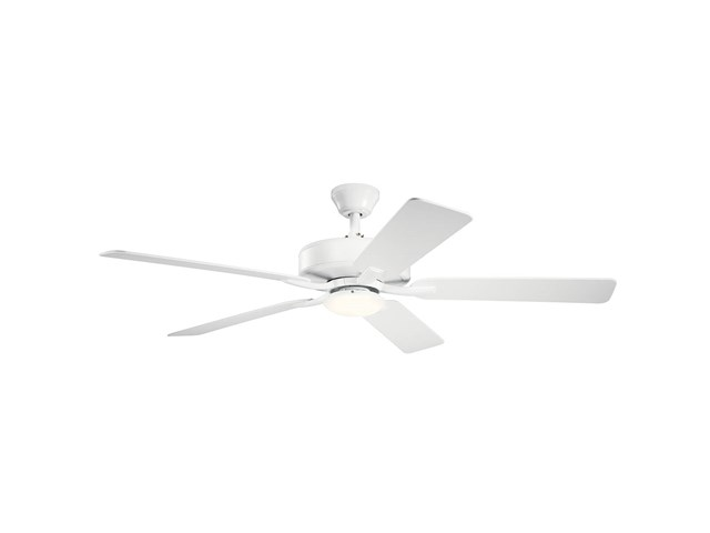 "52"" Basics Pro Designer LED Fan White"