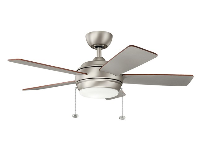 "Starkk™ LED 42"" Fan Brushed Nickel"