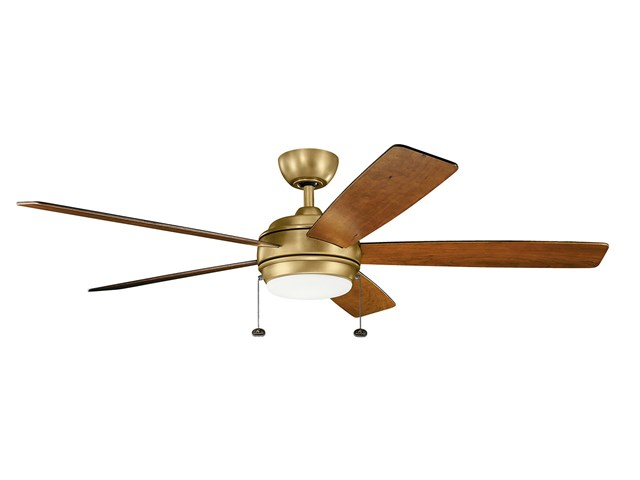"Starkk™ LED 60"" Fan Natural Brass"