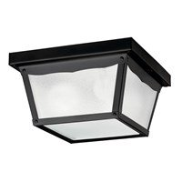 "9.25"" 2 Light Flush Mount Black"