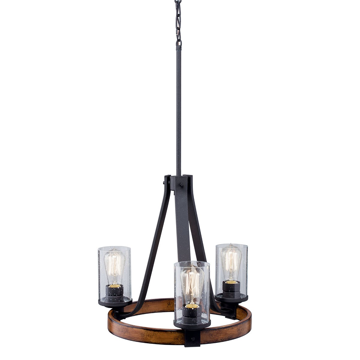 Barrington™ 3 Light Chandelier Distressed Black