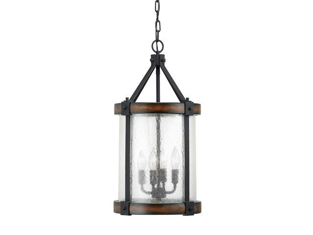 Barrington™ 4 Light Pendant Distressed Black