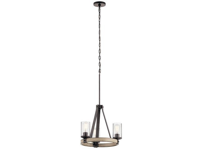Barrington 3 Light Chandelier Anvil Iron