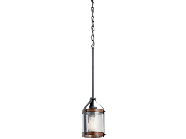 Barrington™ 1 Light Pendant Distressed Black