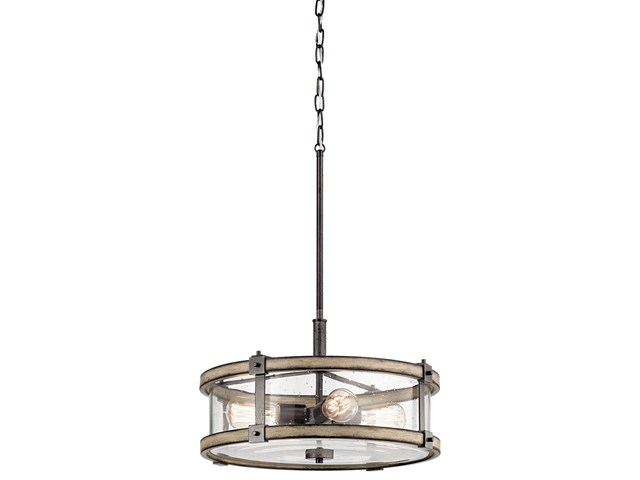 Barrington™ 4 Light Drum Pendant Anvil Iron