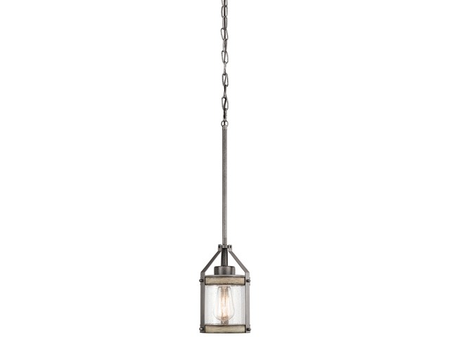 Barrington 1 Light Mini Pendant Anvil Iron