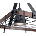 "Barrington™ 34"" x 20"" Lighted Pot Rack Distressed Black"