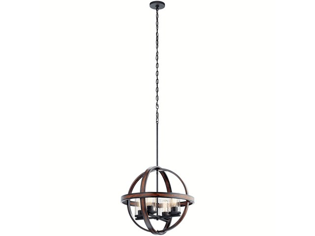 Barrington™ 4 Light Orb Pendant Distressed Black