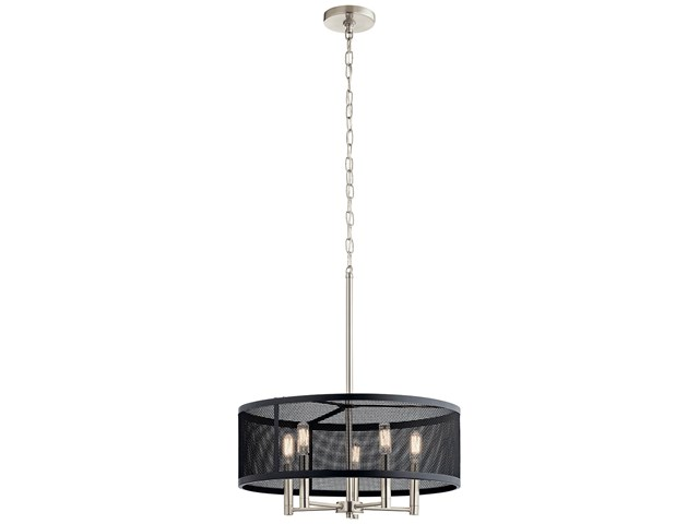 Edmund 5 Light Drum Pendant Satin Black