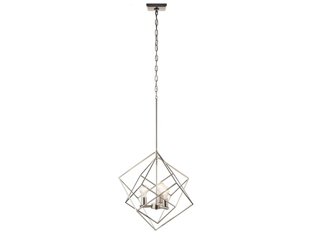 Beckenham™ 3 Light Pendant Brushed Nickel