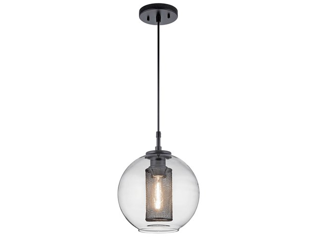 Edmund 1 Light Mini Pendant Satin Black