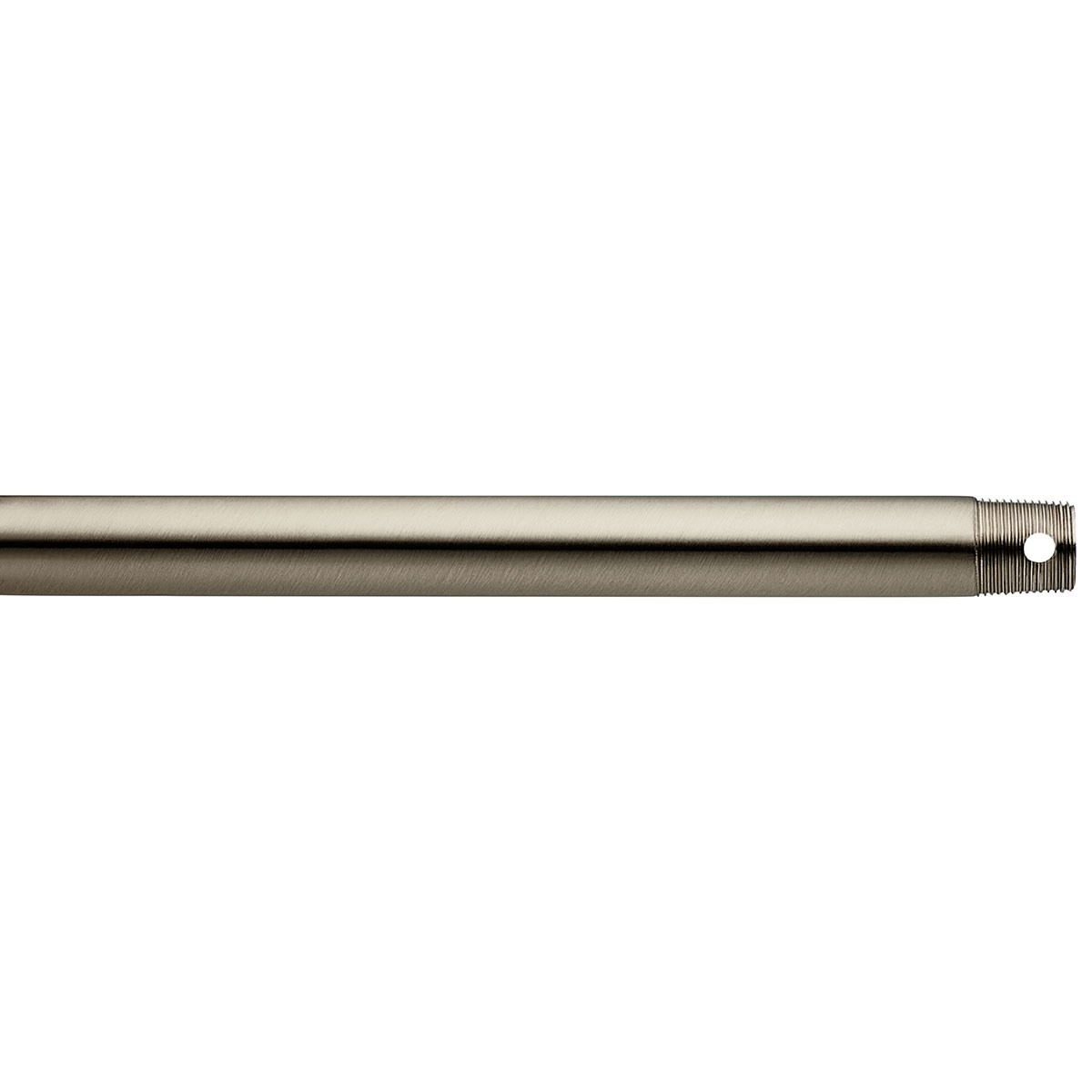 "Dual Threaded 18"" Downrod Brushed Stainless Steel"