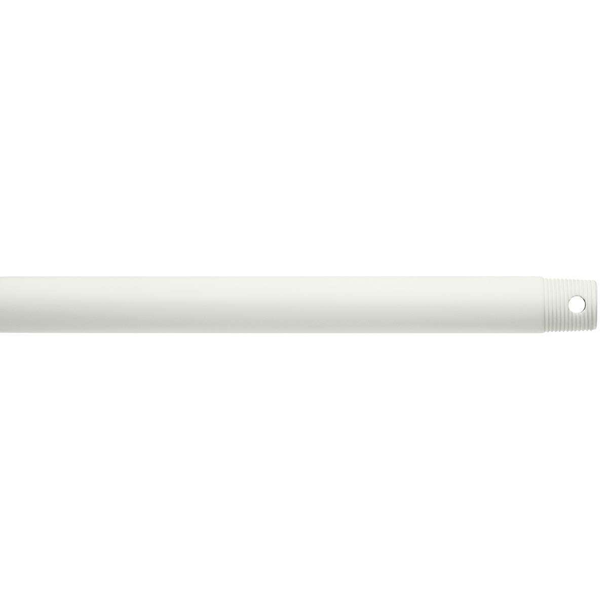 "Dual Threaded 18"" Downrod Matte White"