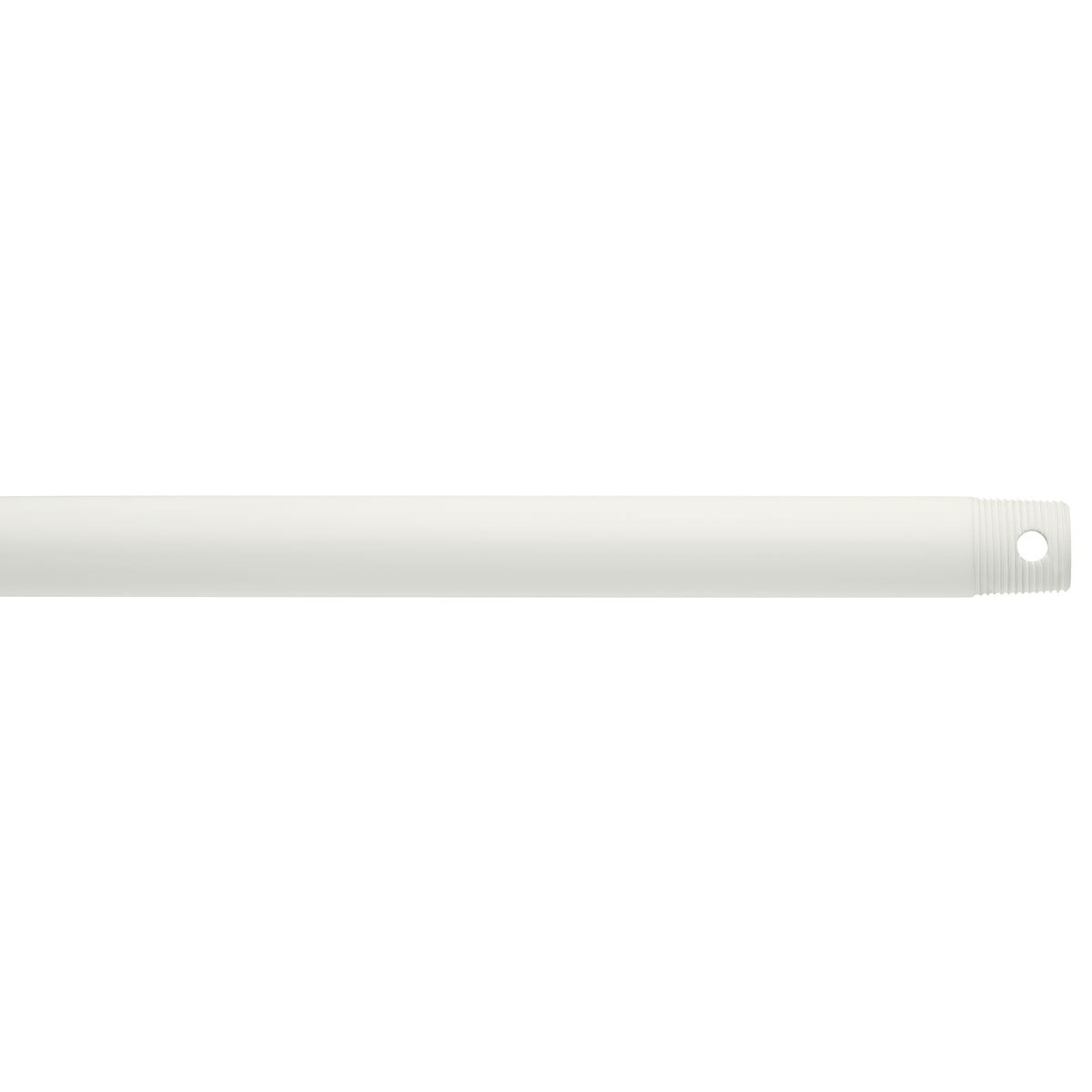 "Dual Threaded 18"" Downrod White"