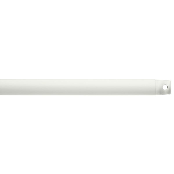 "Dual Threaded 48"" Downrod Matte White"