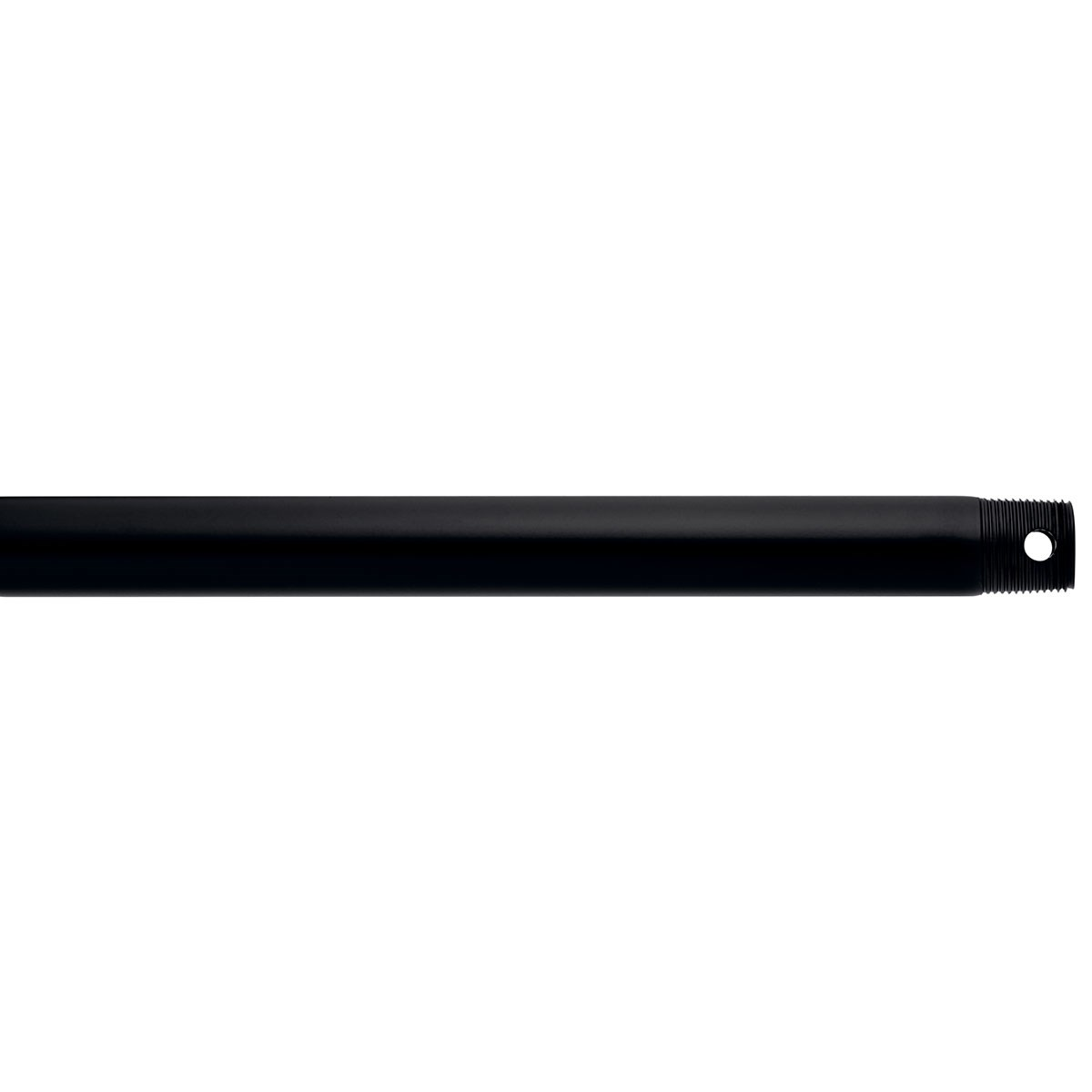 "Dual Threaded 48"" Downrod Satin Black"
