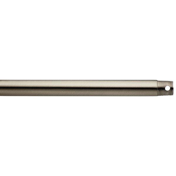 "Dual Threaded 60"" Downrod Brushed Stainless Steel"