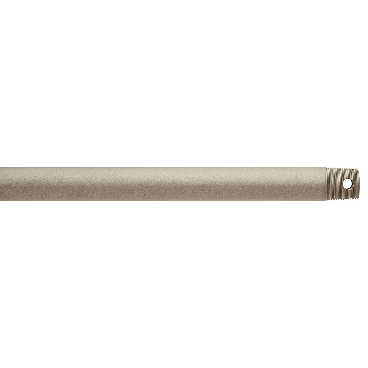 "Dual Threaded 72"" Downrod Antique Satin Silver"