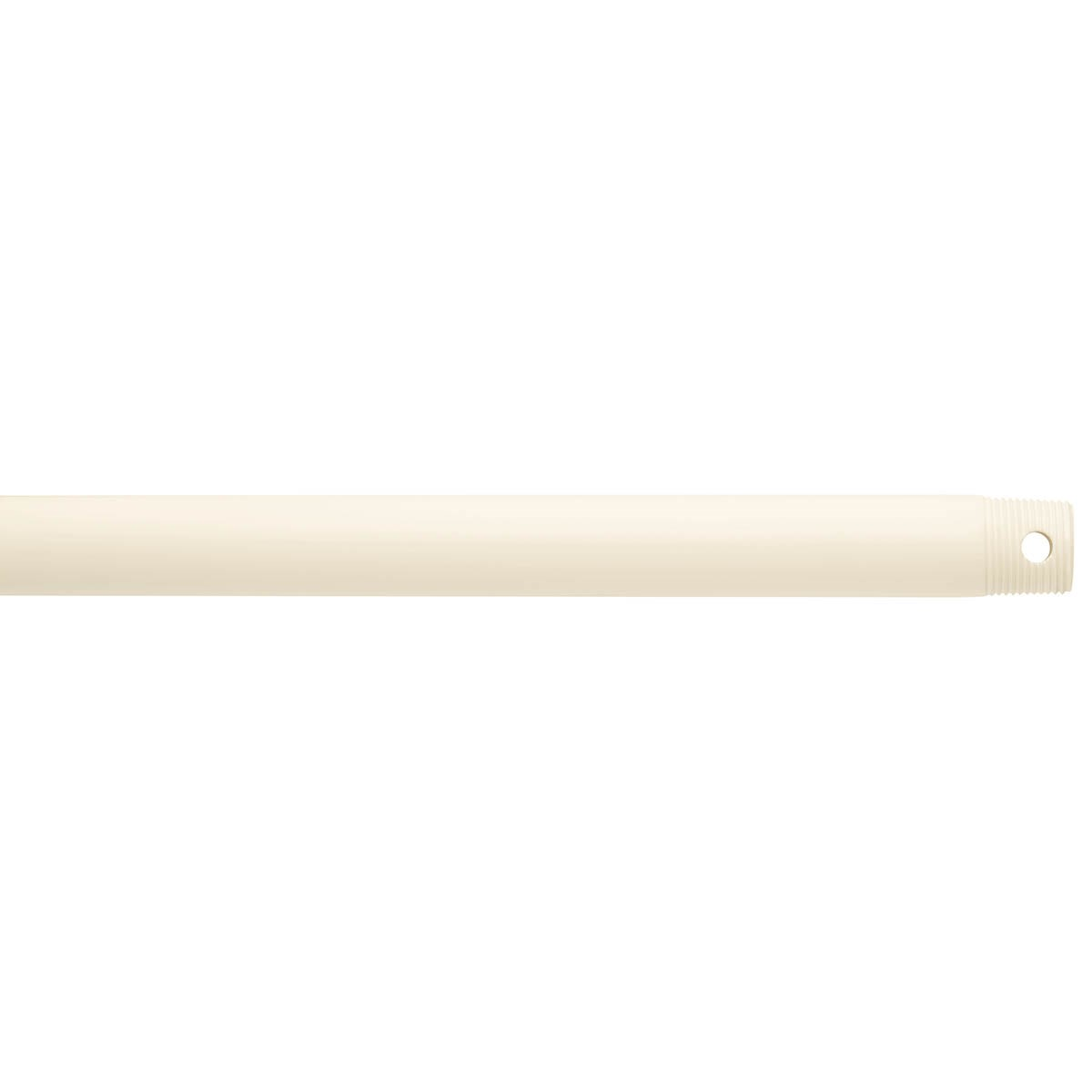 "Dual Threaded 72"" Downrod Satin Natural White"