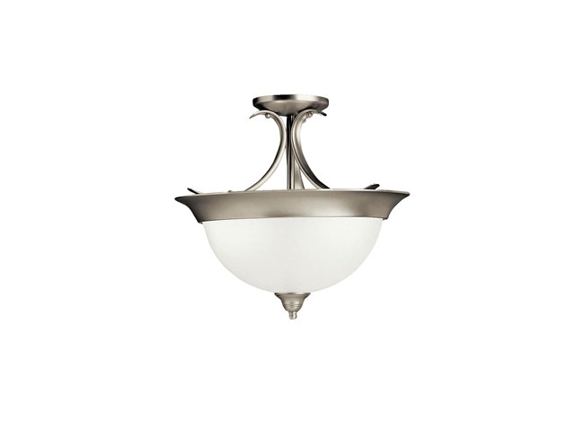 Dover 3 Light Semi Flush Brushed Nickel
