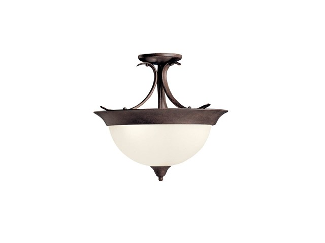 Dover 3 Light Semi Flush Tannery Bronze™