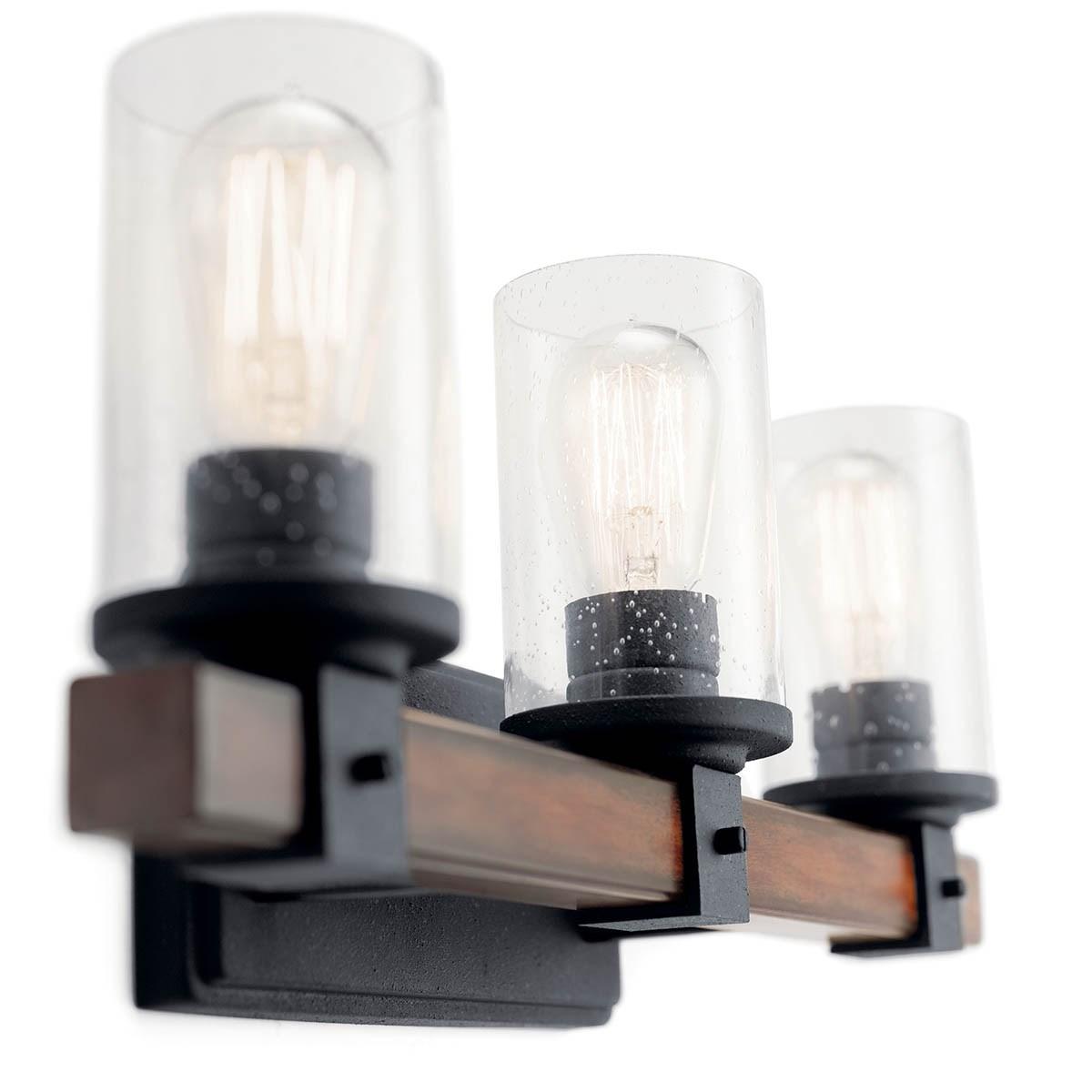 Www Kichler: Barrington™ 3 Light Vanity Light Distressed Black