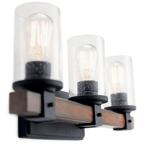 Barrington 3 Light Vanity Light Distressed Black Kichler Lighting