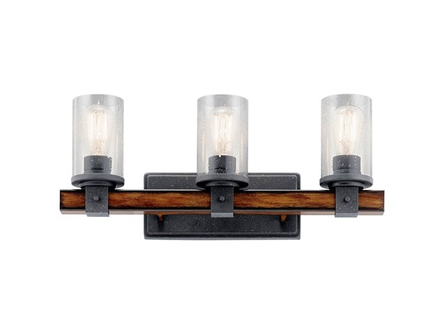 Barrington™ 3 Light Vanity Light Distressed Black