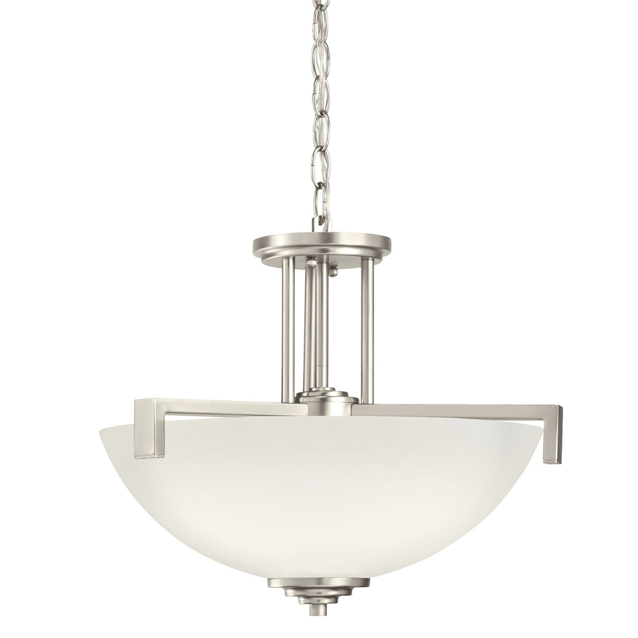 Eileen 3 Light Convertible Pendant Brushed Nickel