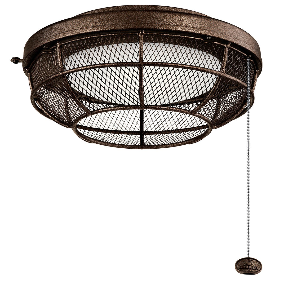 Industrial Mesh LED Outdoor Light Kit in Weathered Copper