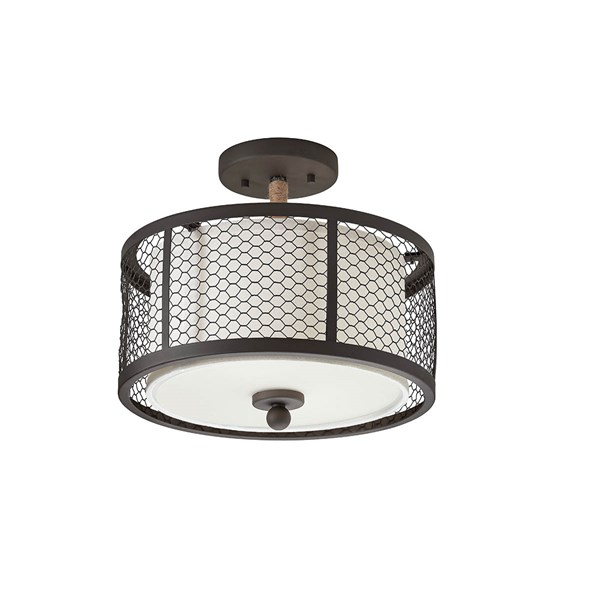 "13"" 2 Light Semi Flush Mount Olde Bronze®"