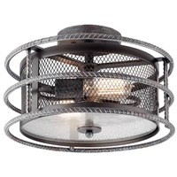 Ramida 2 Light Semi Flush Mount Steel