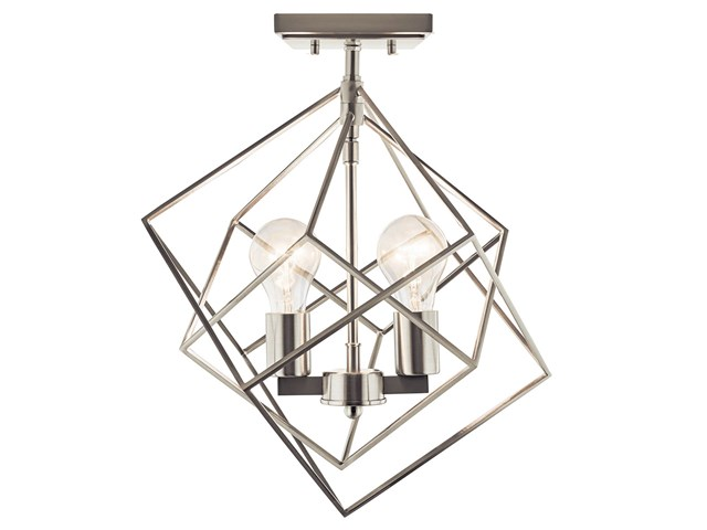 Beckenham™ 2 Light Semi Flush Brushed Nickel