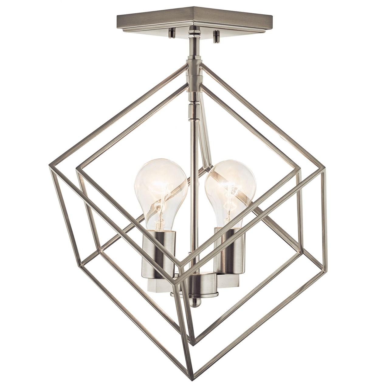 Beckenham 2 Light Semi Flush Brushed Nickel Kichler Lighting