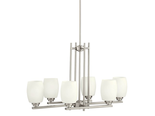 Eileen 6 Light Chandelier Brushed Nickel