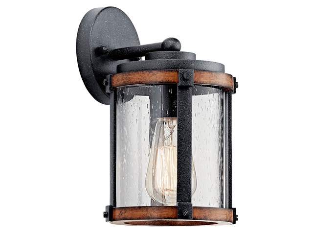 "Barrington™ 10"" 1 Light Wall Light Distressed Black"