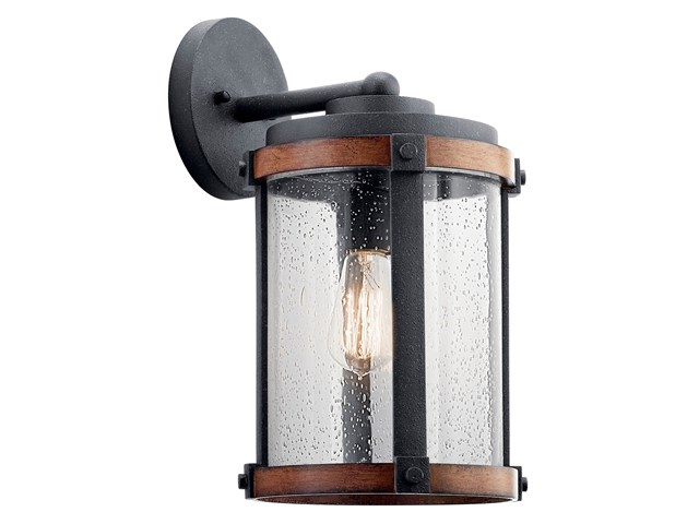 "Barrington™ 16"" 1 Light Wall Light Distressed Black"
