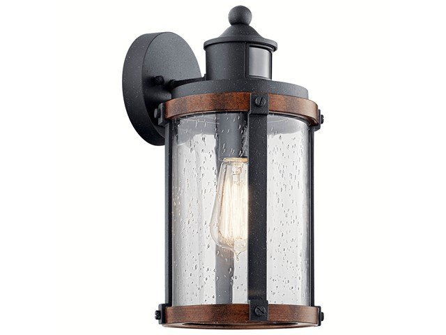 "Barrington™ 13.25"" Motion Sensor Wall Light Distressed Black"