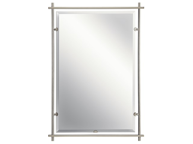 Eileen™ Modern Rectangular Mirror Brushed Nickel