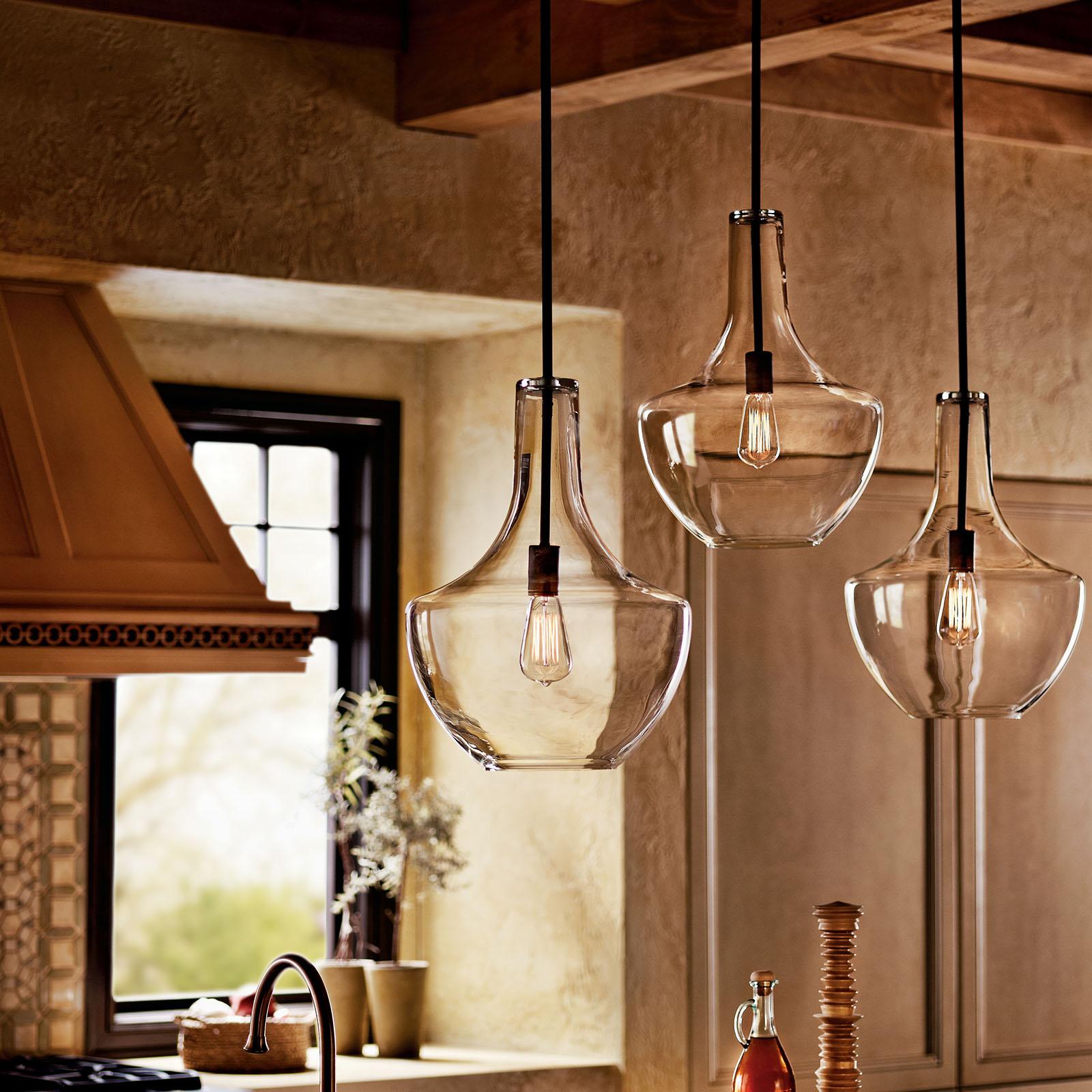 Everly 19 75 1 Light Pendant Clear Glass Olde Bronze Kichler Lighting