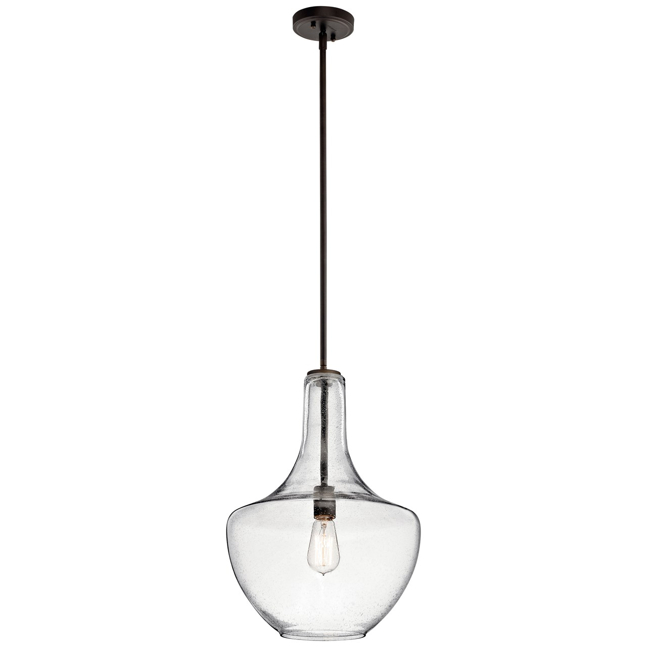 Everly 19 75 1 Light Pendant Clear Seeded Gl Olde