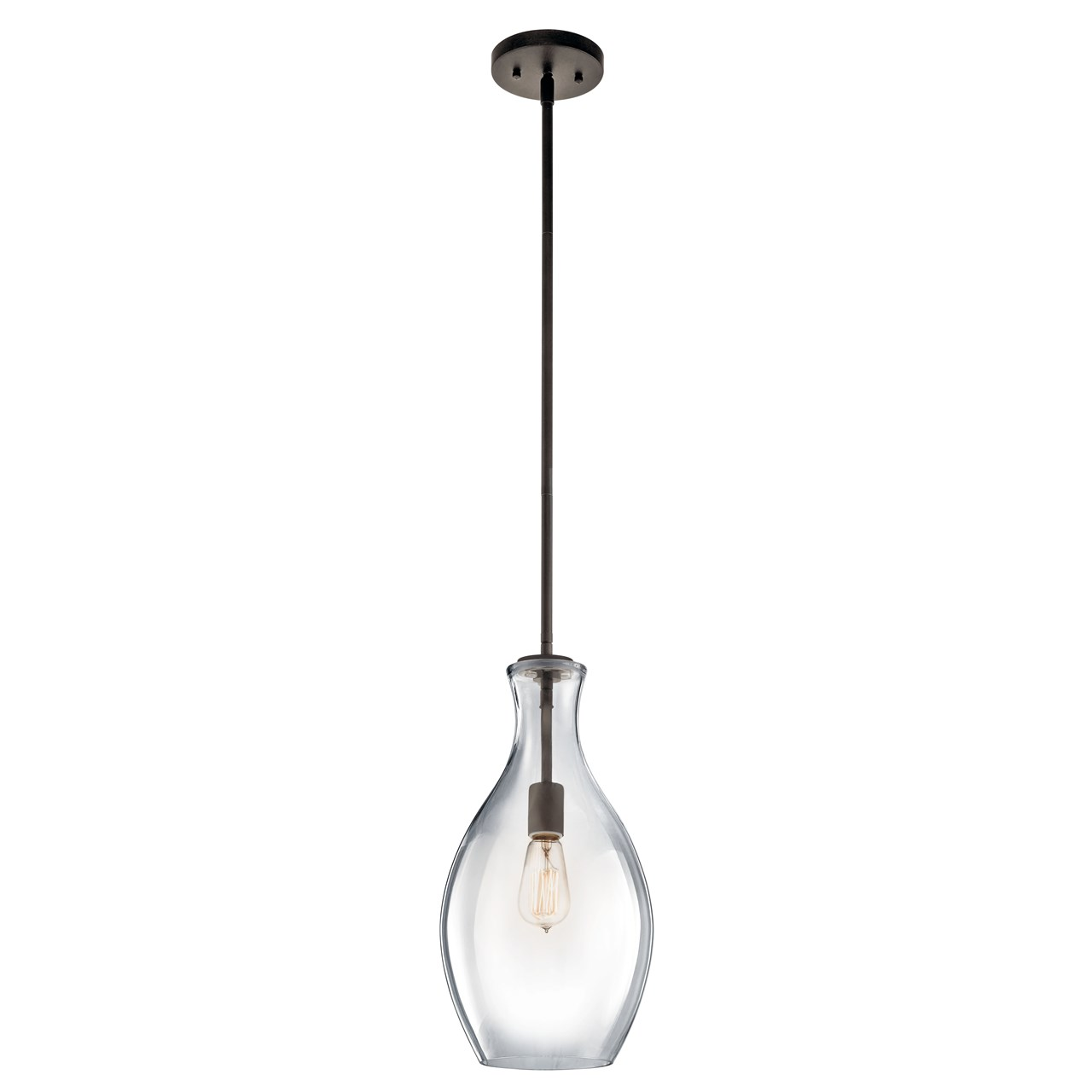 Everly 17 75 1 Light Pendant Clear Gl Olde Bronze