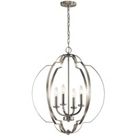 "Voleta 26.25"" 4 Light Foyer Pendant Brushed Nickel"