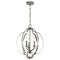 "Voleta 20.75"" 3 Light Pendant Brushed Nickel"