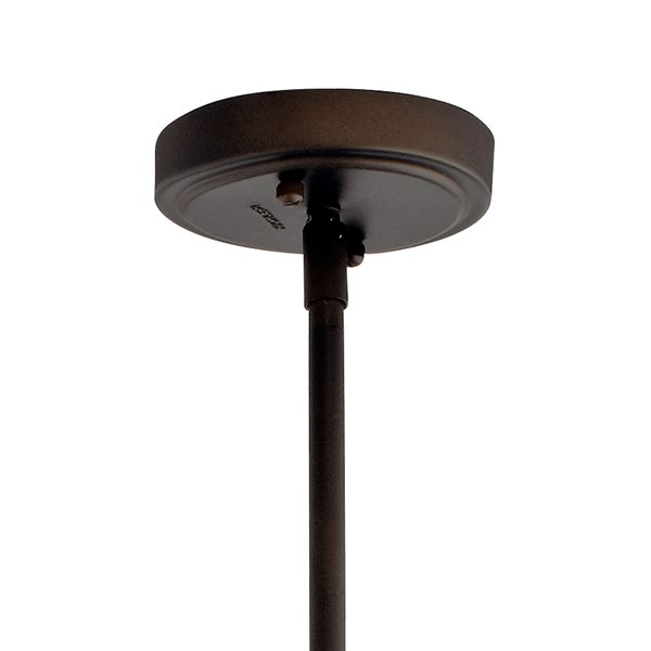"Everly™ 15.25"" 1 Light Bell Pendant Clear Glass Olde Bronze®"