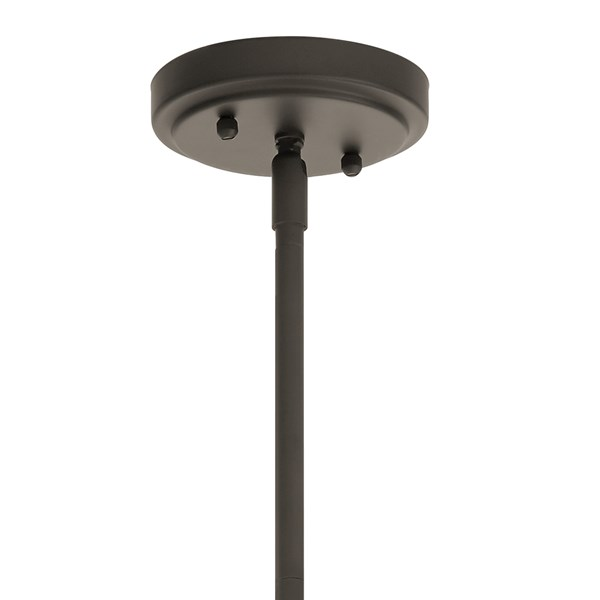 "Everly™ 9.25"" 1 Light Mini Schoolhouse Pendant Satin Etched Cased Opal Glass Olde Bronze®"