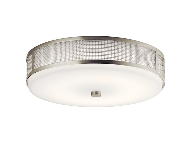 "Ceiling Space 13.25"" LED Flush Mount Brushed Nickel"