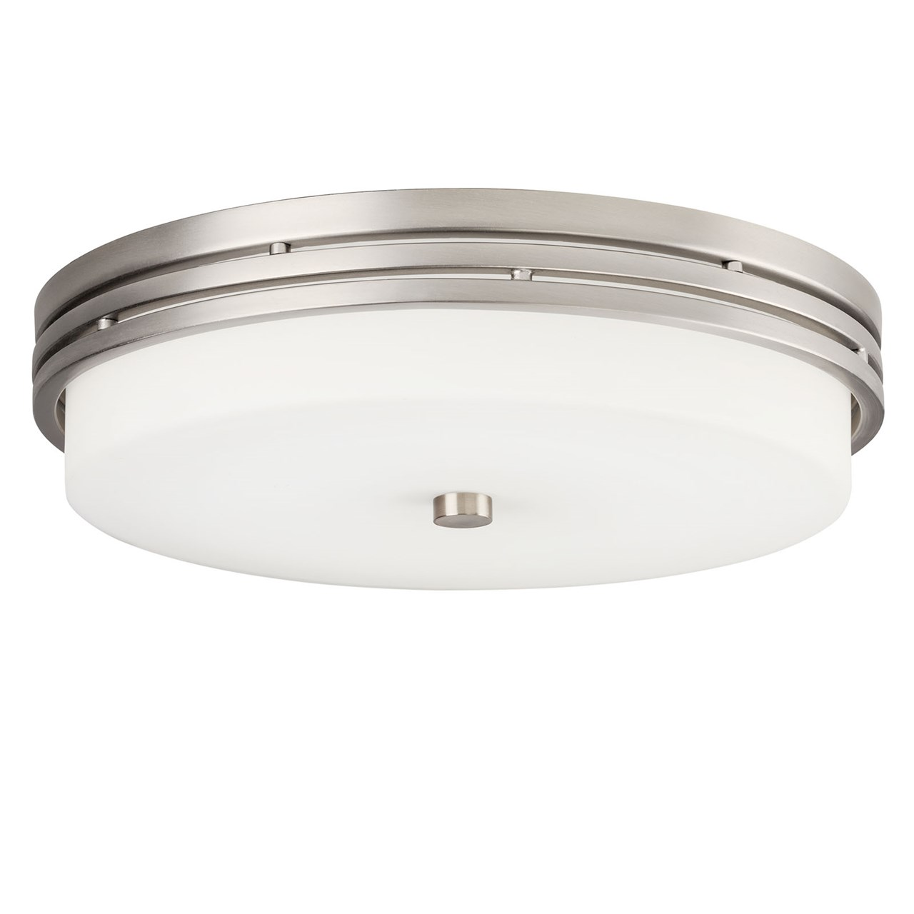 "Ceiling Space 14"" LED Flush Mount Brushed Nickel"